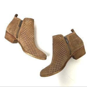 Lucky Brand Perforated Suede Ankle Boots